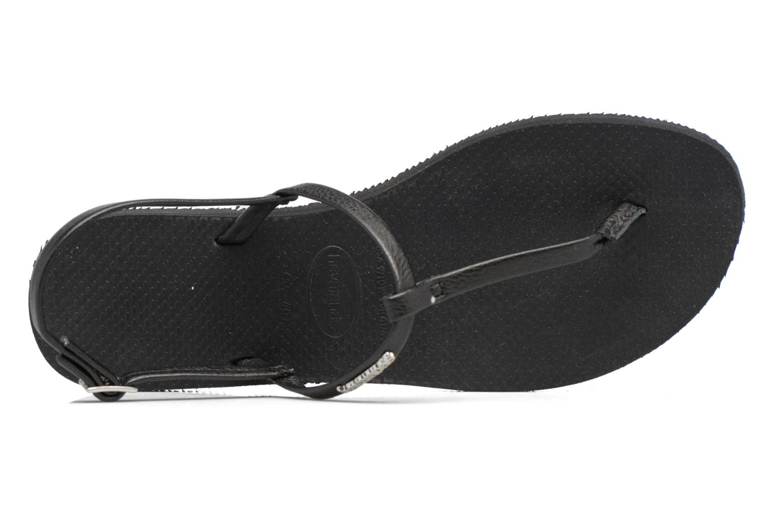 Flip flops Havaianas You Riviera Black view from the left