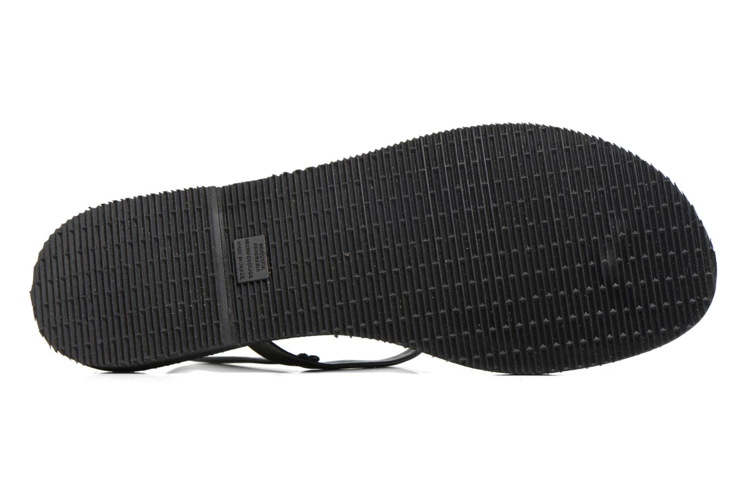 Flip flops Havaianas You Riviera Black view from above