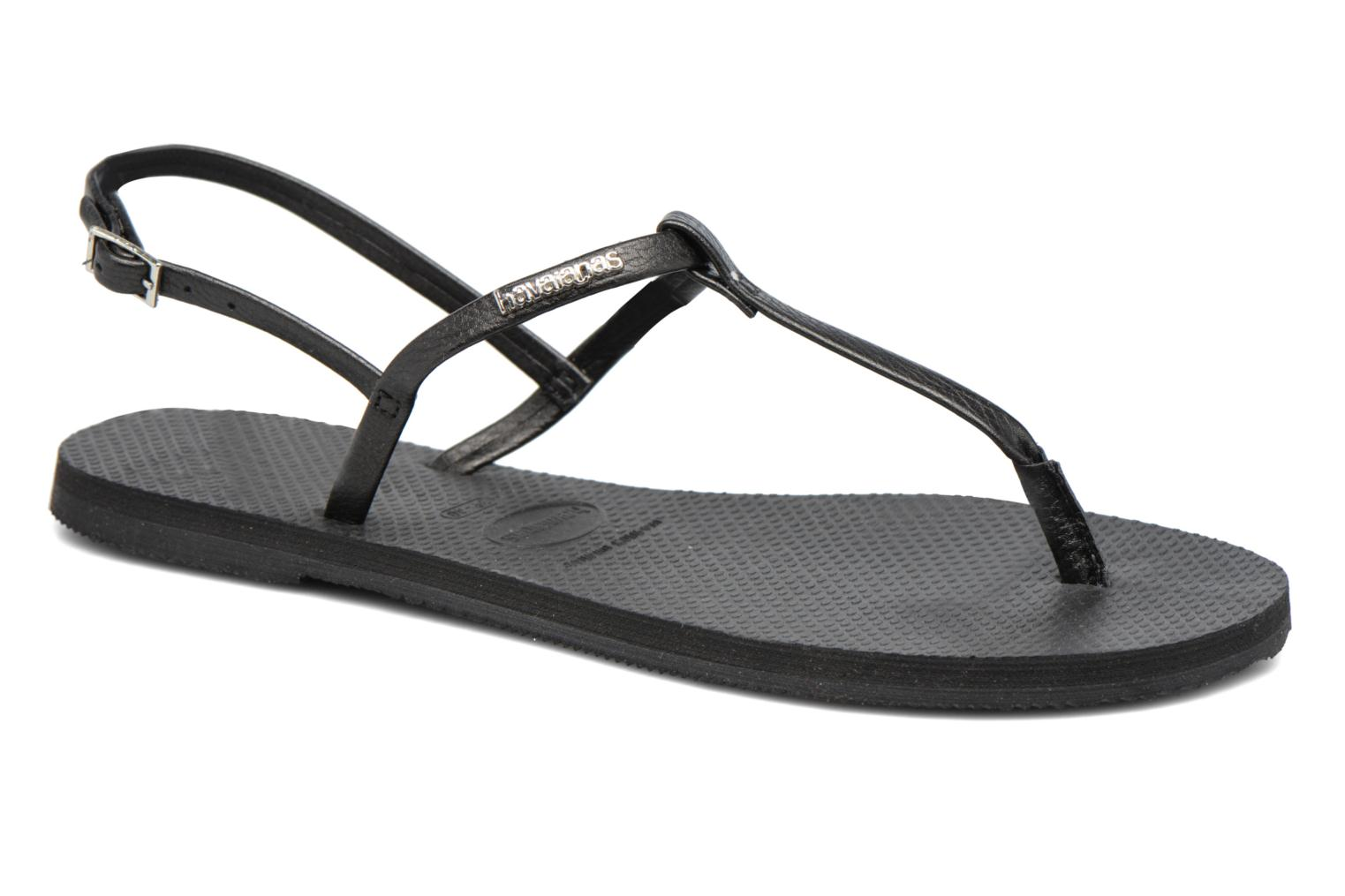 Sandals Havaianas You Riviera Black detailed view/ Pair view