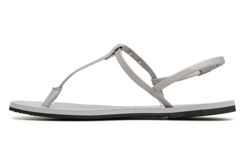 Sandales et nu-pieds Havaianas You Riviera Gris vue face