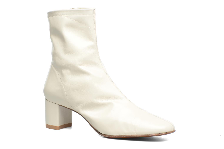 Sofia White leather