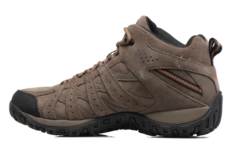 Chaussures de sport Columbia Redmond Mid Leather Omni-Tech Marron vue face