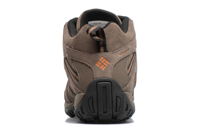 Chaussures de sport Columbia Redmond Mid Leather Omni-Tech Marron vue droite