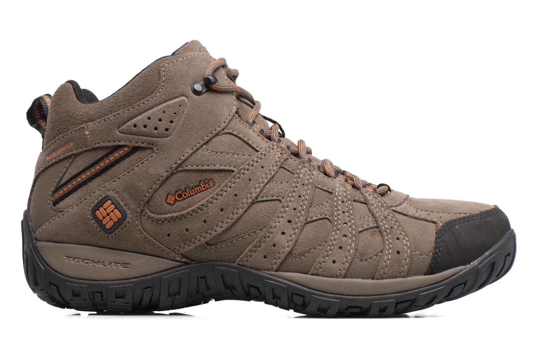 Chaussures de sport Columbia Redmond Mid Leather Omni-Tech Marron vue derrière