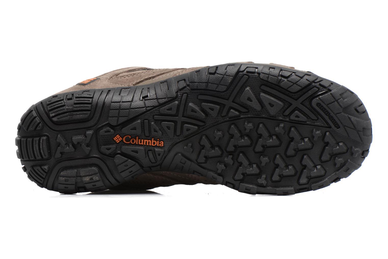 Chaussures de sport Columbia Redmond Mid Leather Omni-Tech Marron vue haut