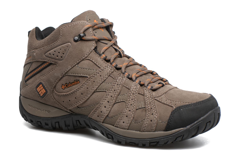 Chaussures de sport Columbia Redmond Mid Leather Omni-Tech Marron vue détail/paire
