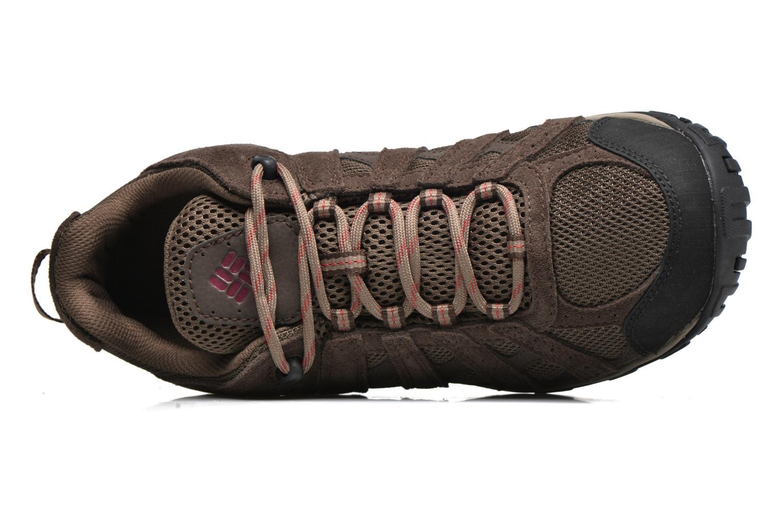 Chaussures de sport Columbia Redmond Waterproof2 Marron vue gauche