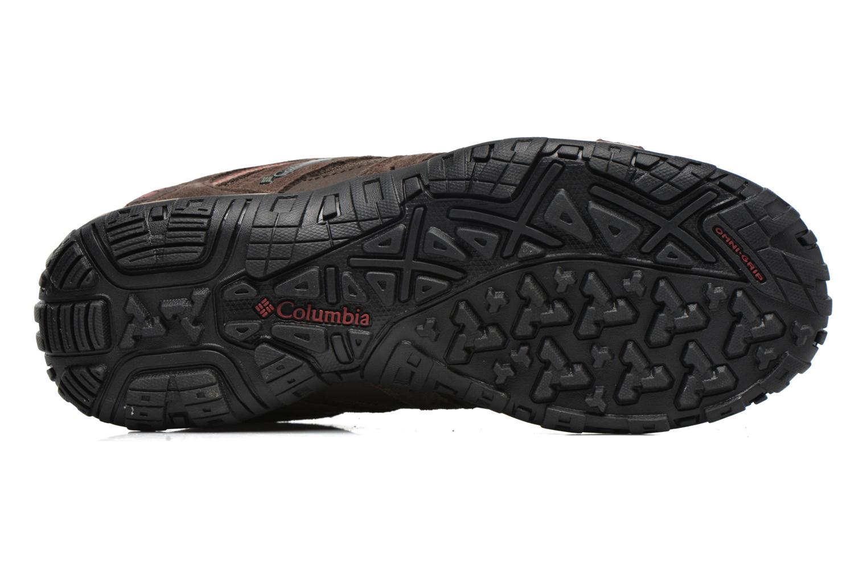 Chaussures de sport Columbia Redmond Waterproof2 Marron vue haut
