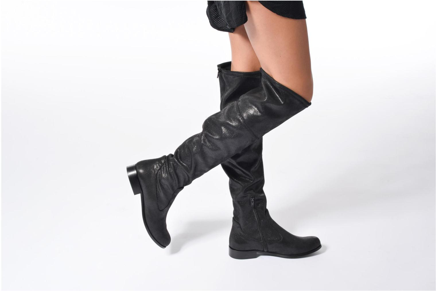 Boots & wellies Georgia Rose Serpentin Black view from underneath / model view