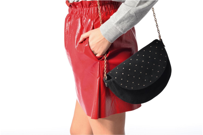 Handtassen Petite mendigote Crossbody Chaine Lune Amstrong Zwart boven