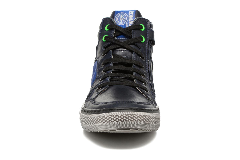 Baskets Romagnoli Benoit Bleu vue portées chaussures