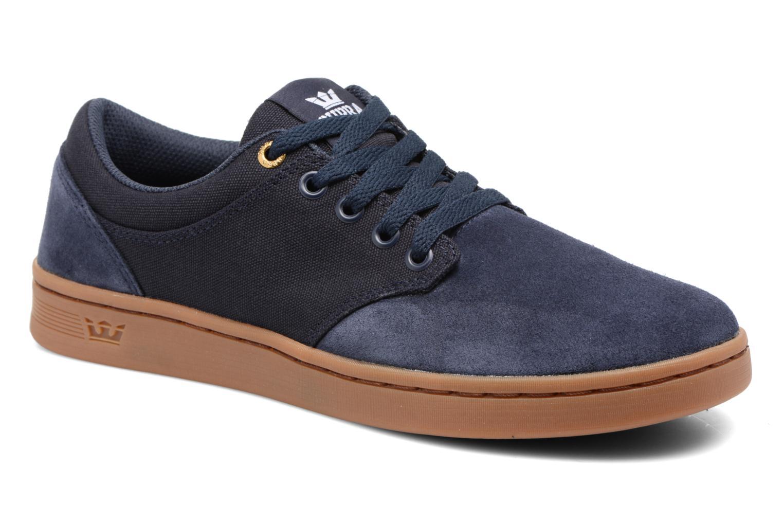 Chaussures de sport Supra Chino Court Bleu vue détail/paire