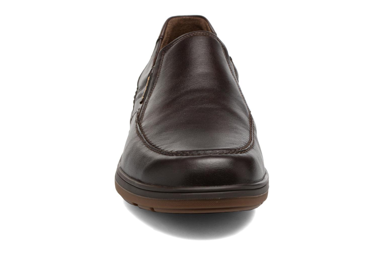 Mocassins Mephisto Davy Marron vue portées chaussures