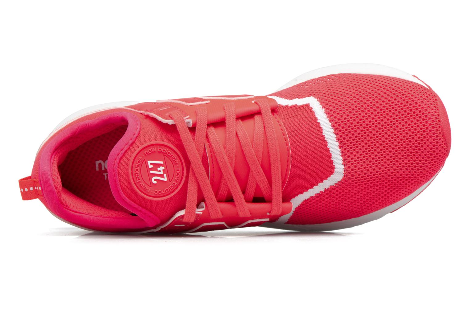 Baskets New Balance WRL247 Rouge vue gauche
