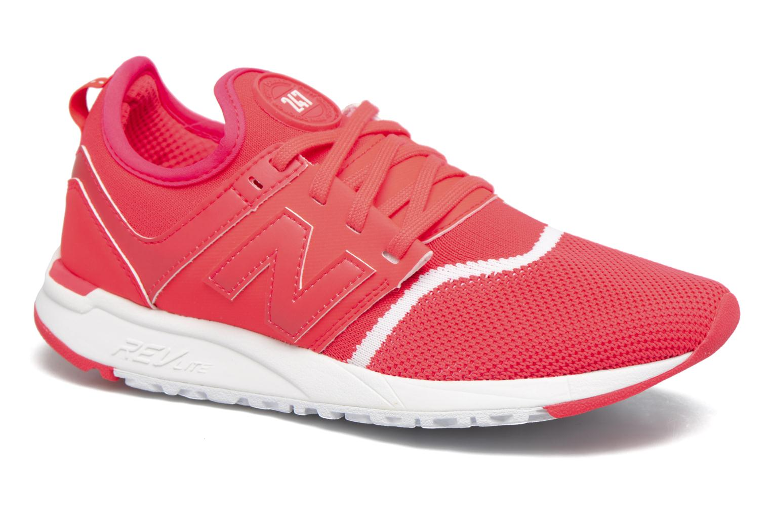 Baskets New Balance WRL247 Rouge vue détail/paire