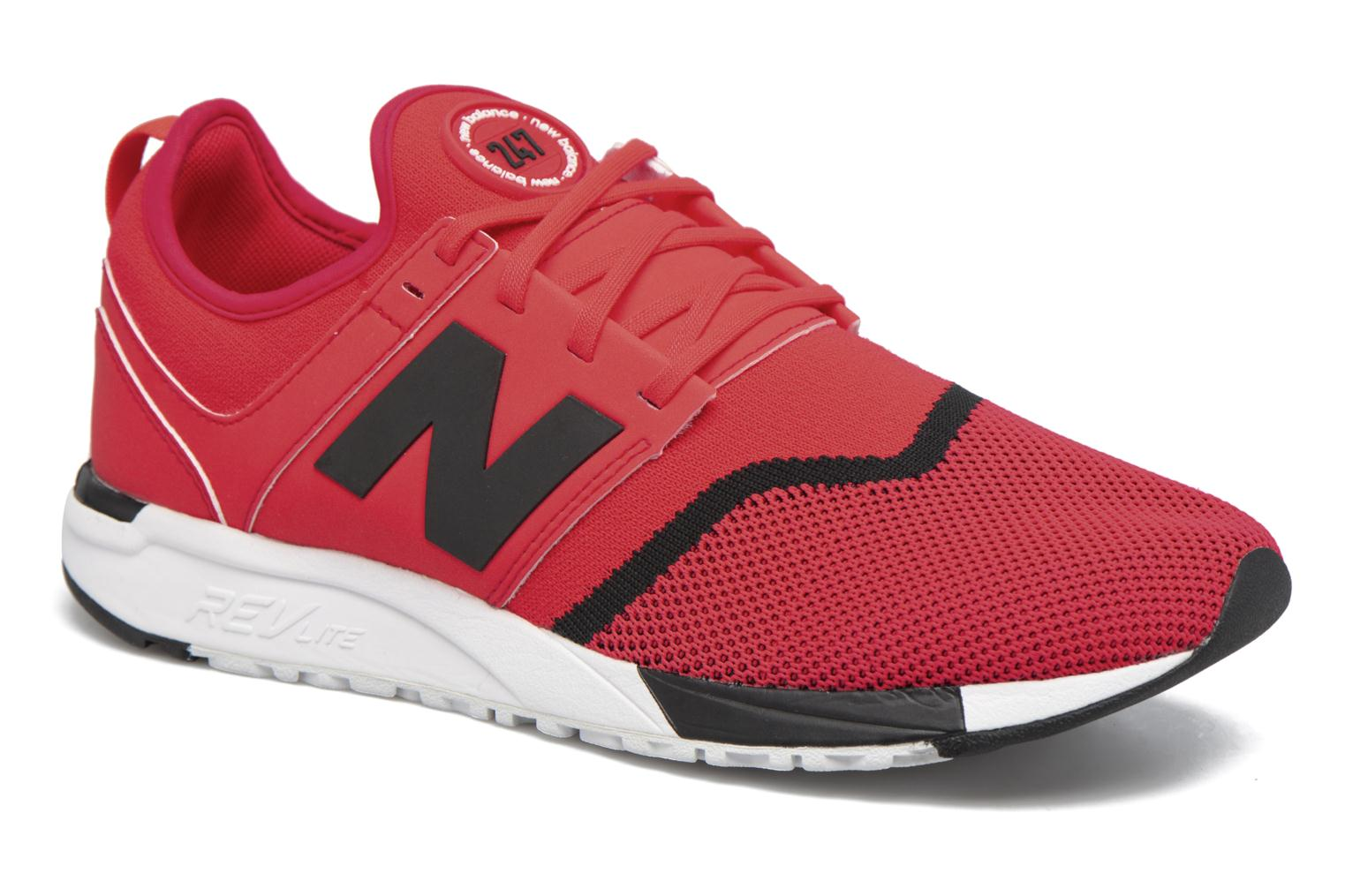 Baskets New Balance MRL247 Rouge vue détail/paire