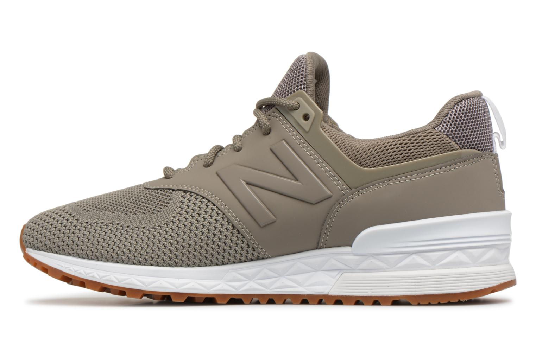 Sneakers New Balance MS574 Grijs voorkant