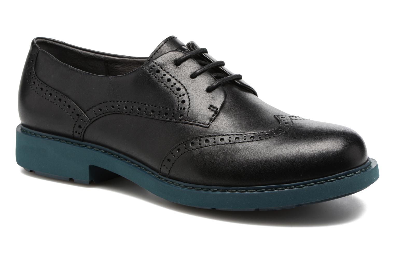 Chaussures à lacets Camper Neuman K200513 Noir vue détail/paire