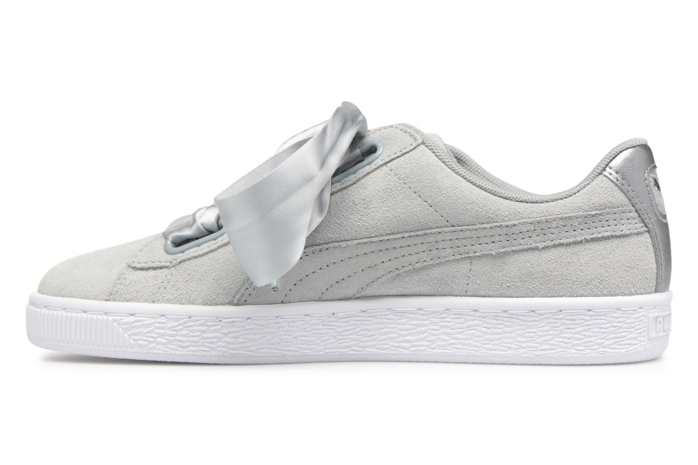 Sneakers Puma Basket heart Msafari Wn's Grigio immagine frontale