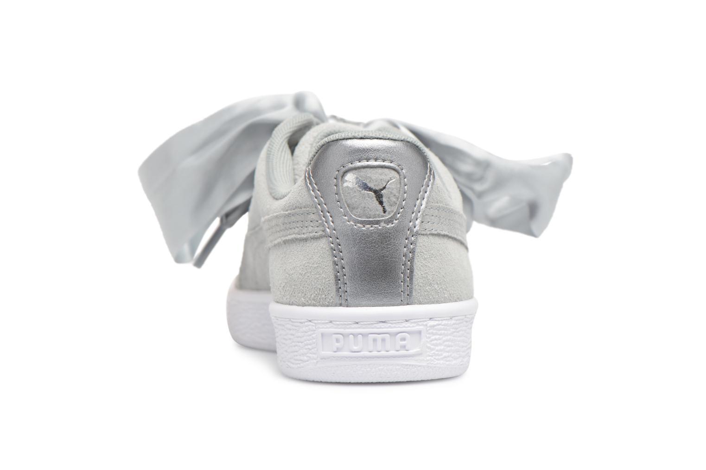 Sneakers Puma Basket heart Msafari Wn's Grigio immagine destra