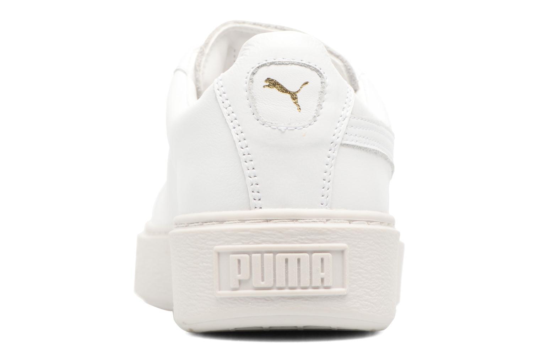 Baskets Puma Wns Basket Platf Bigv Blanc vue droite