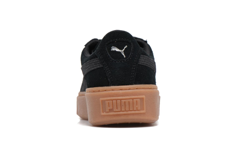 Wns Suede Platform Gum Black