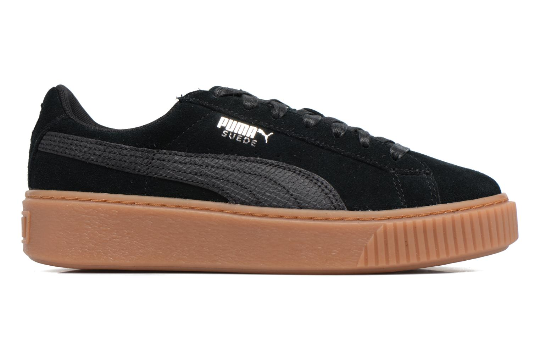 Baskets Puma Wns Suede Platform Gum Noir vue derrière