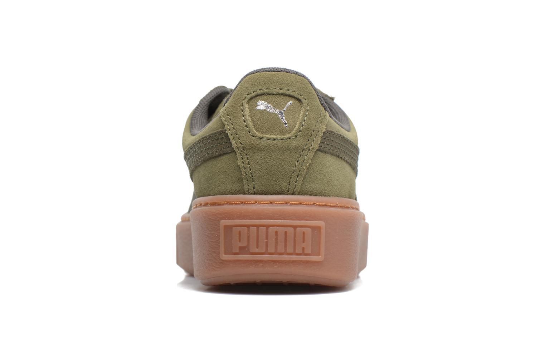 Baskets Puma Wns Suede Platform Gum Vert vue droite