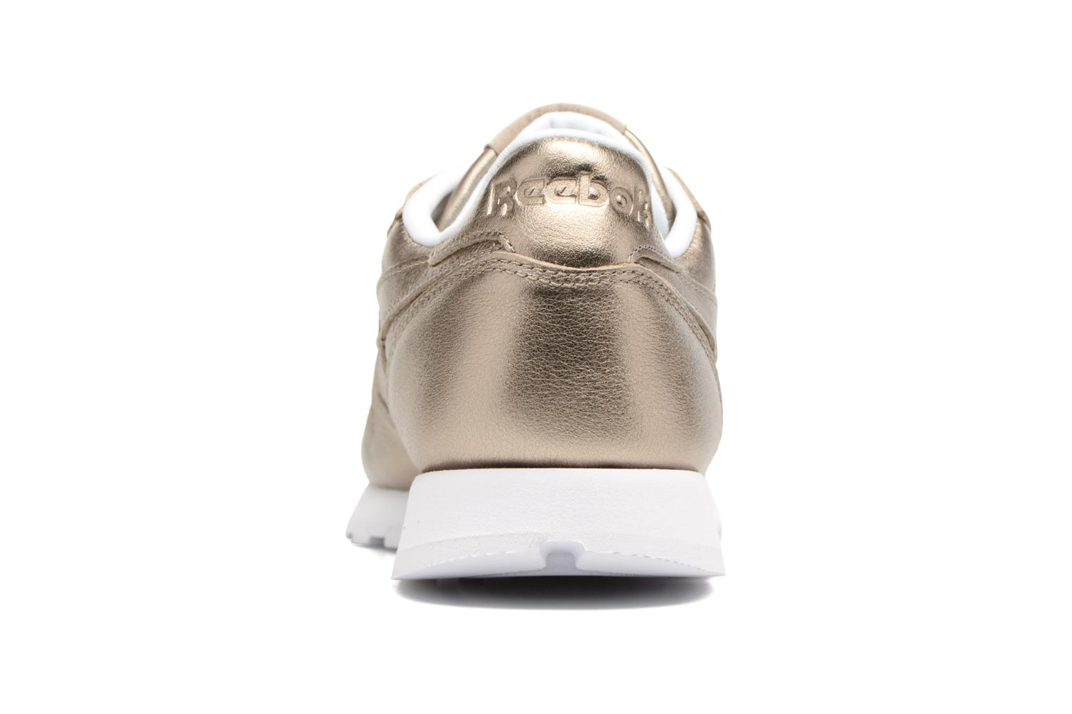 Cl Lthr Melted Meta Pearl Met-Grey Gold/White