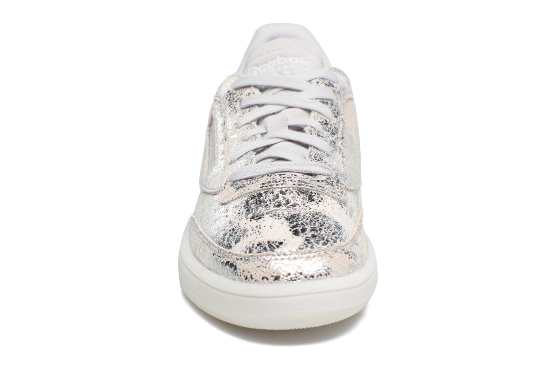 Baskets Reebok Club C 85 Hype Meta Argent vue portées chaussures