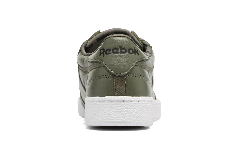 Baskets Reebok Club C 85 So Vert vue droite