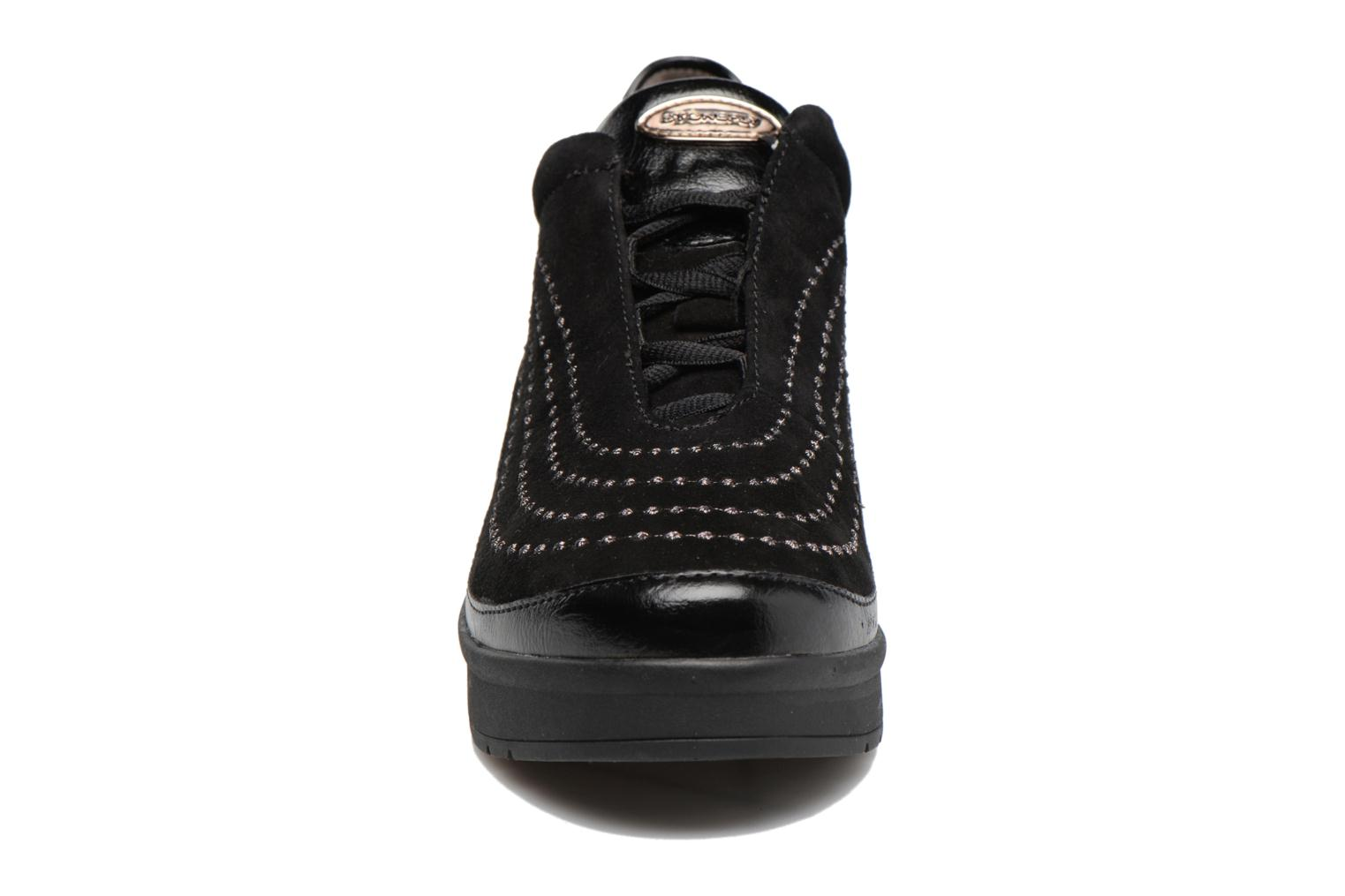 Lace-up shoes Stonefly Cream 2 Black model view