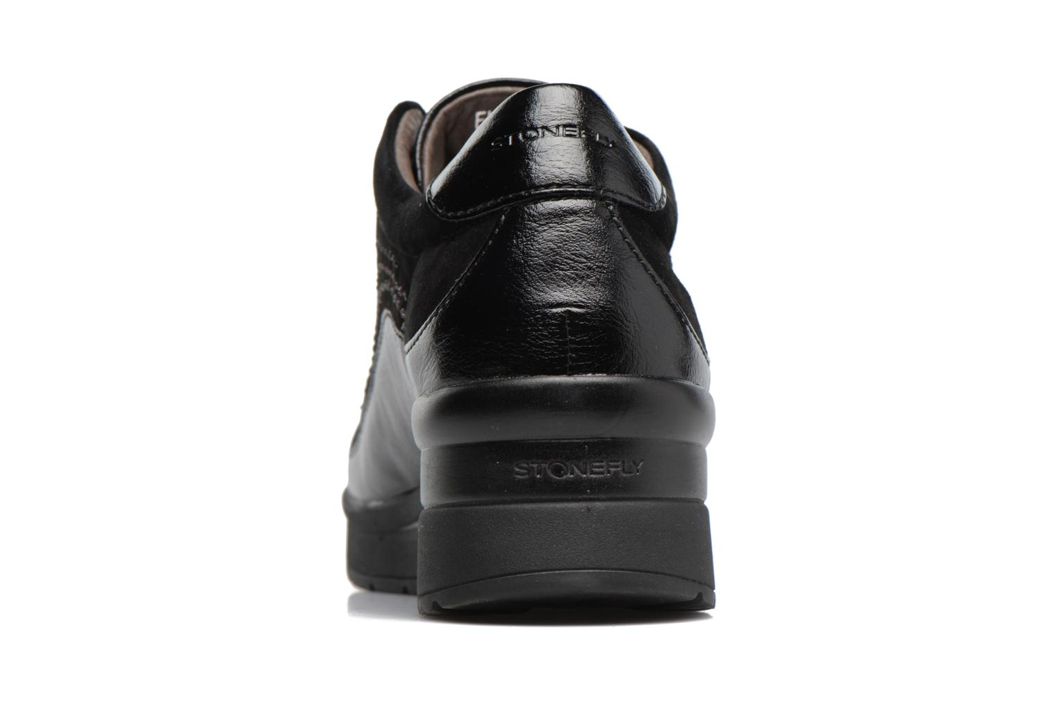 Lace-up shoes Stonefly Cream 2 Black view from the right