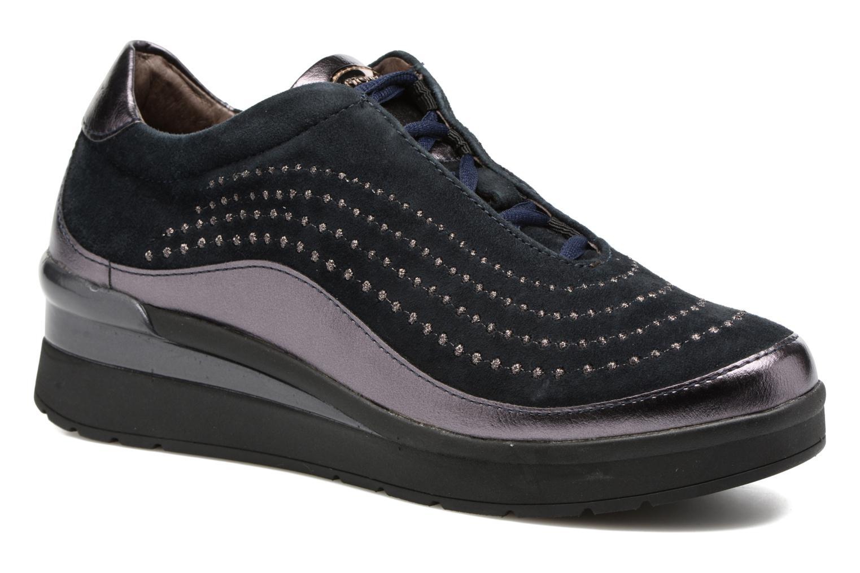 Zapatos con cordones Stonefly Cream 2 Azul vista de detalle / par