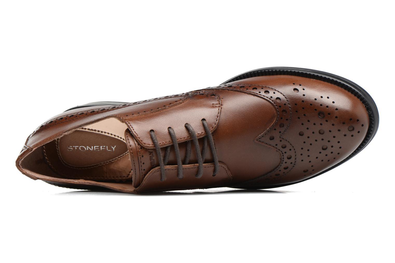 Zapatos con cordones Stonefly Clyde 21 Marrón vista lateral izquierda