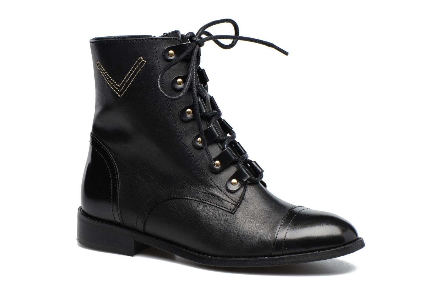 Bottines et boots Made by SARENZA Boots Camp #17 Noir vue droite