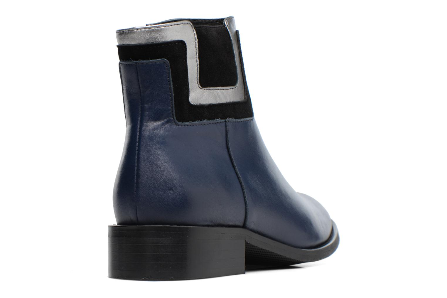 Boots Camp #21 Cuir Lisse Marine