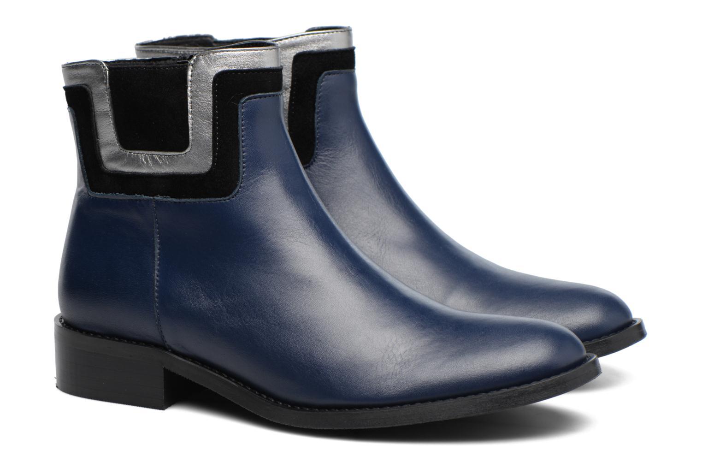Bottines et boots Made by SARENZA Boots Camp #21 Bleu vue derrière
