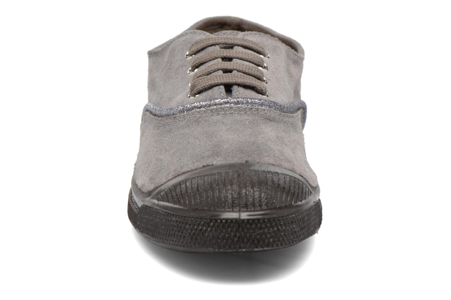 Trainers Bensimon Tennis Suedpiping F Grey model view
