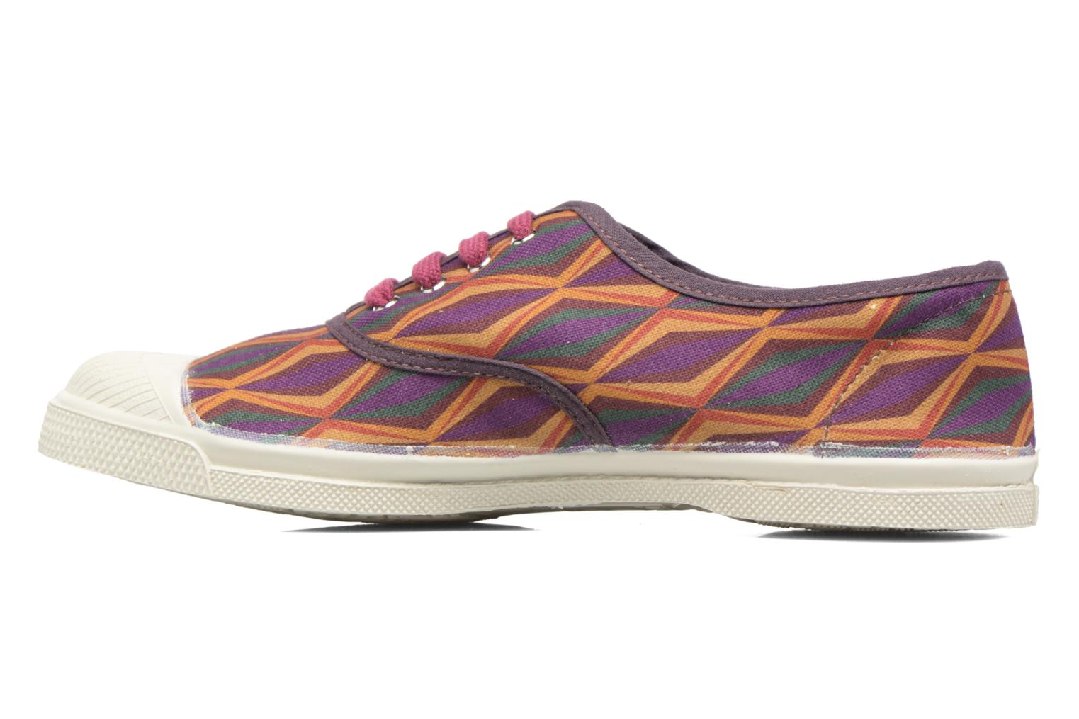 Trainers Bensimon Tennis Losanges Burgundy front view
