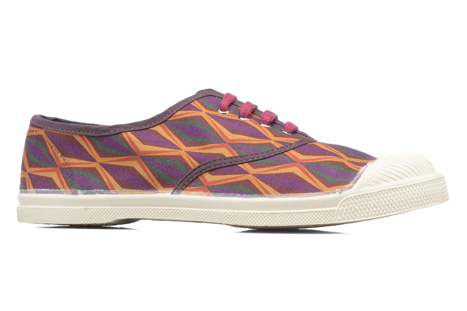 Trainers Bensimon Tennis Losanges Burgundy back view