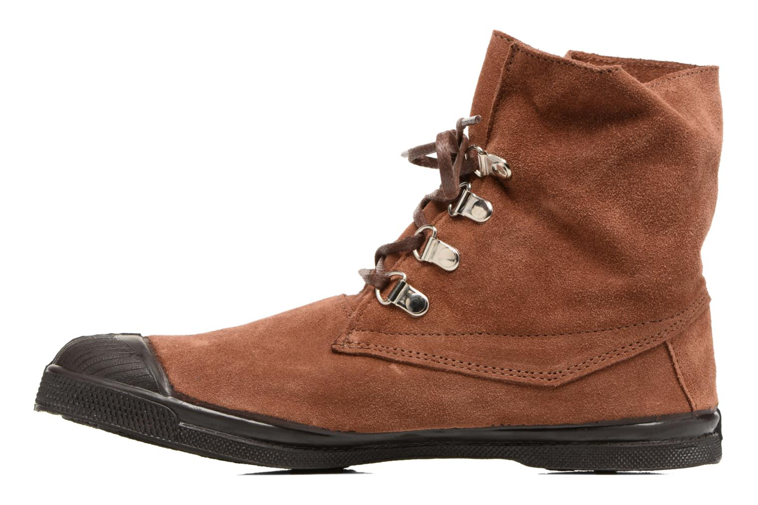 Baskets Bensimon Montana Suedboots Marron vue face