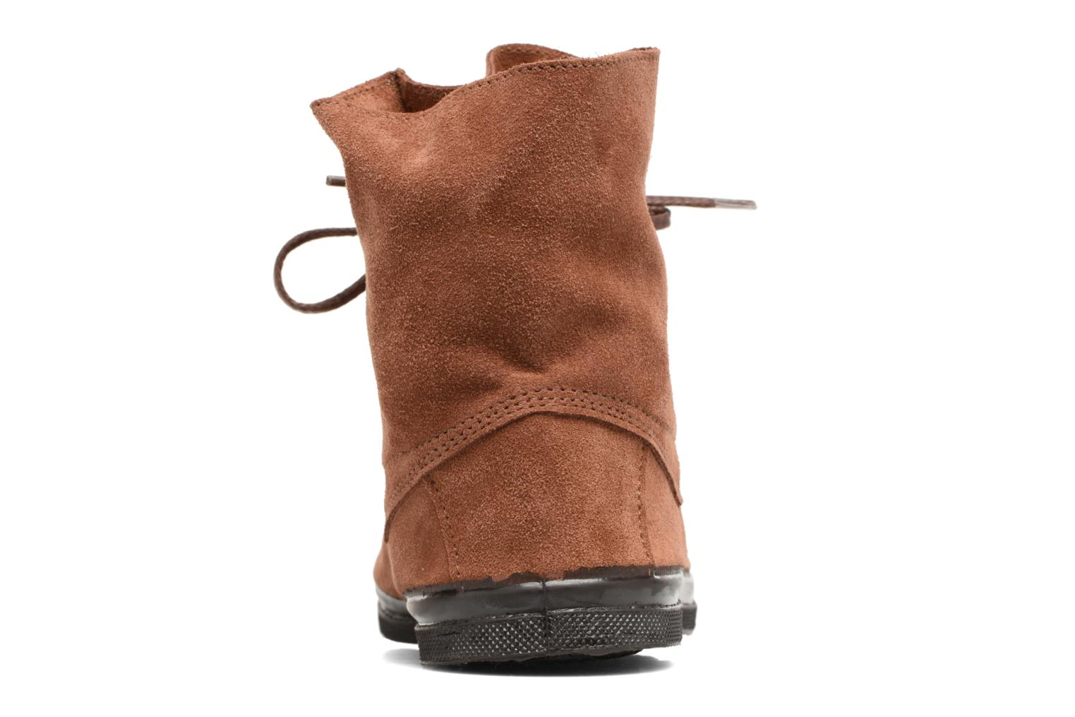 Trainers Bensimon Montana Suedboots Brown view from the right