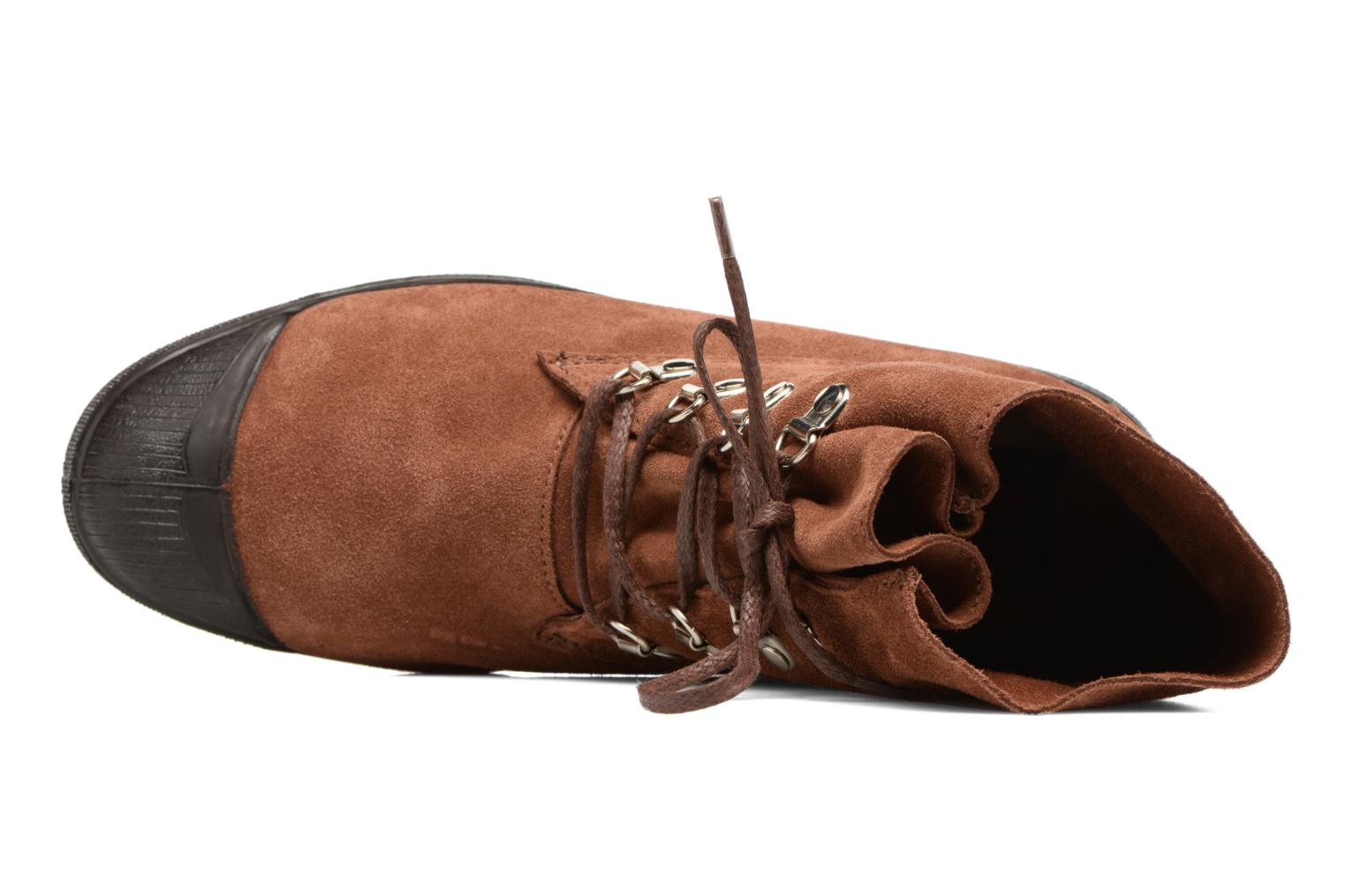 Trainers Bensimon Montana Suedboots Brown view from the left