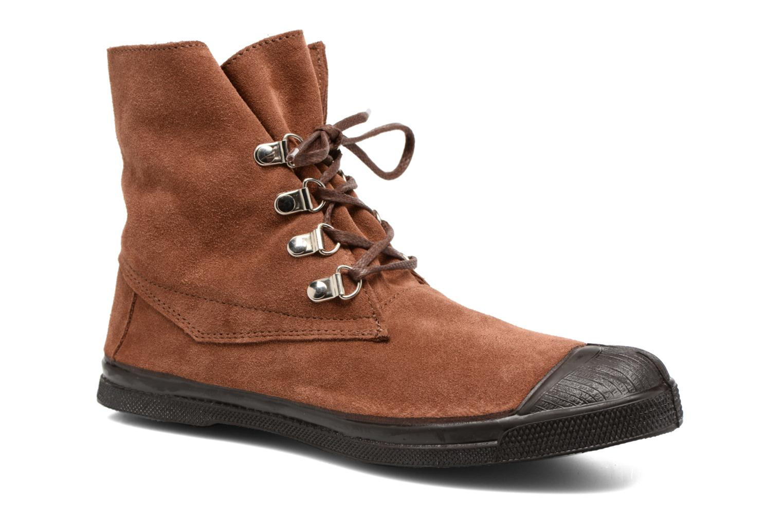 Trainers Bensimon Montana Suedboots Brown detailed view/ Pair view