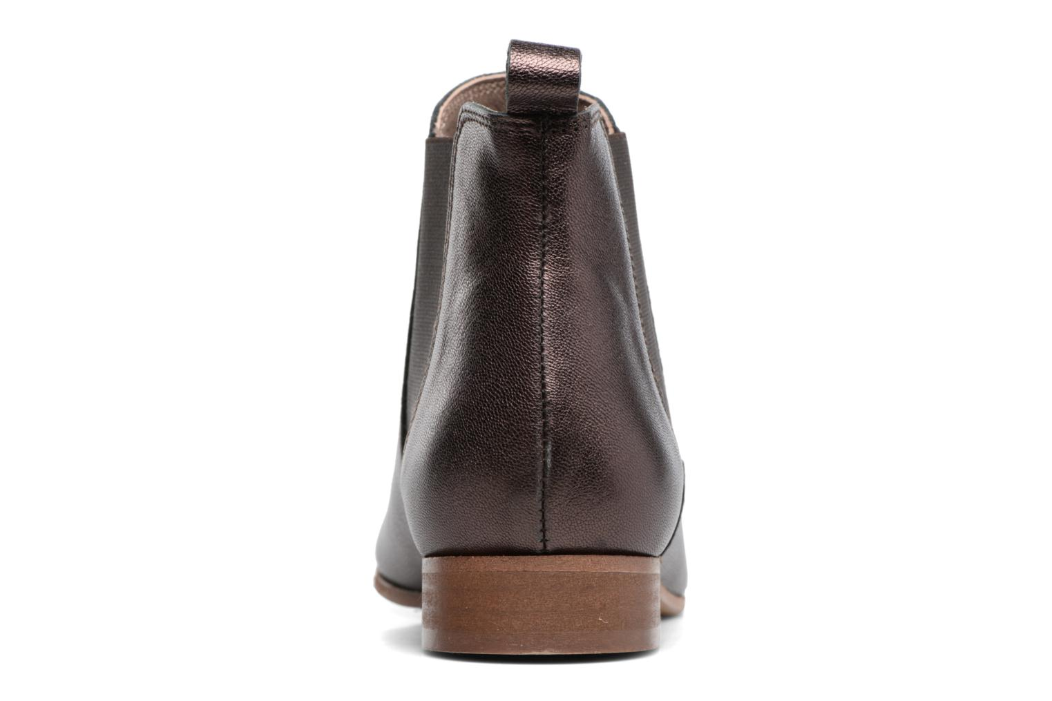Ankle boots Bensimon Boots Chelsea Brown view from the right