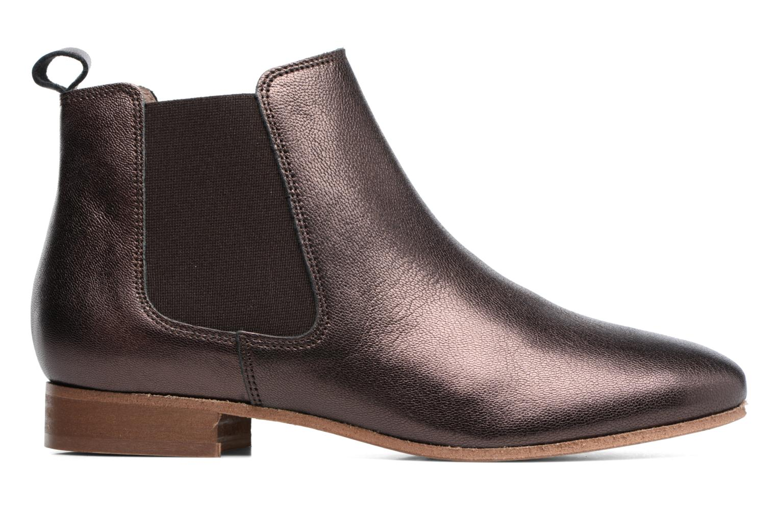 Ankle boots Bensimon Boots Chelsea Brown back view