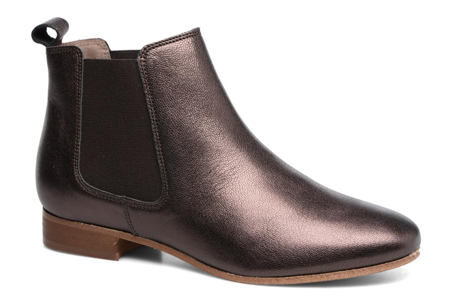 Ankle boots Bensimon Boots Chelsea Brown detailed view/ Pair view