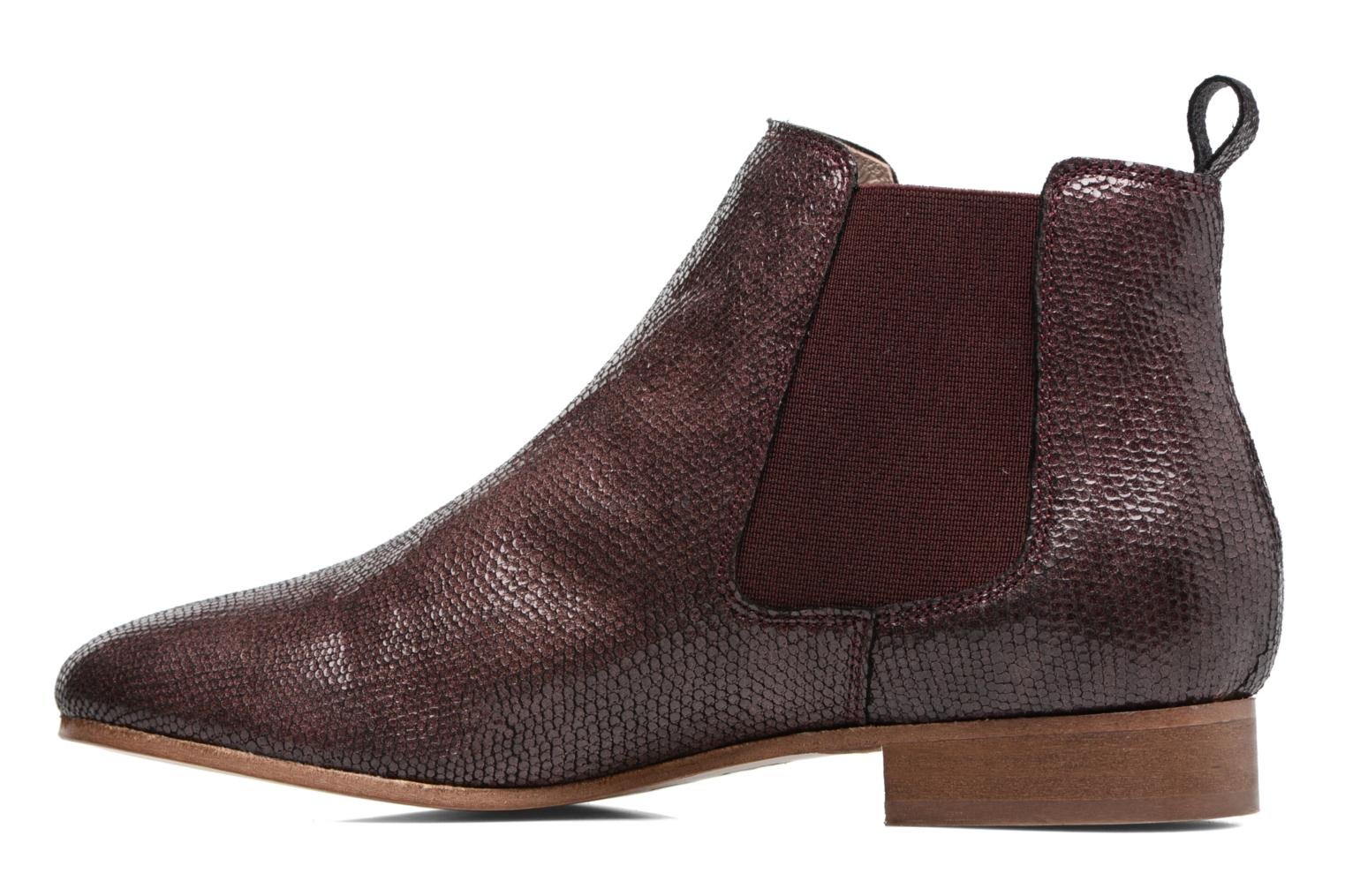 Ankle boots Bensimon Boots Chelsea Burgundy front view