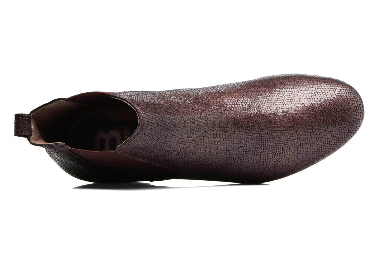 Boots Chelsea Prune Façon Python